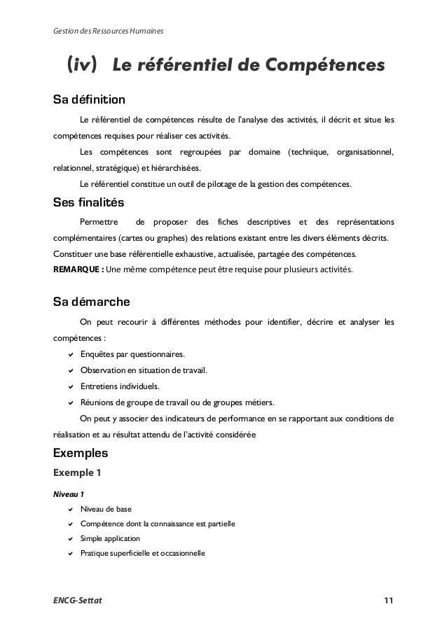 la gestion des ressources humaines  cours pdf