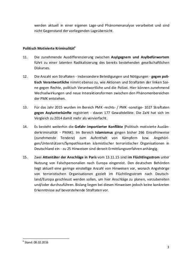 BKA-Lagebericht: Kriminalität bei Flüchtlingen