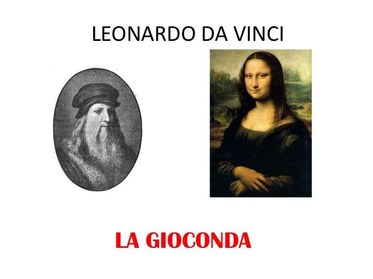 LEONARDO DA VINCI<br />LA GIOCONDA<br />