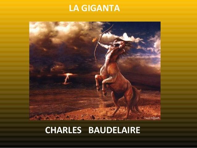 LA GIGANTA CHARLES BAUDELAIRE