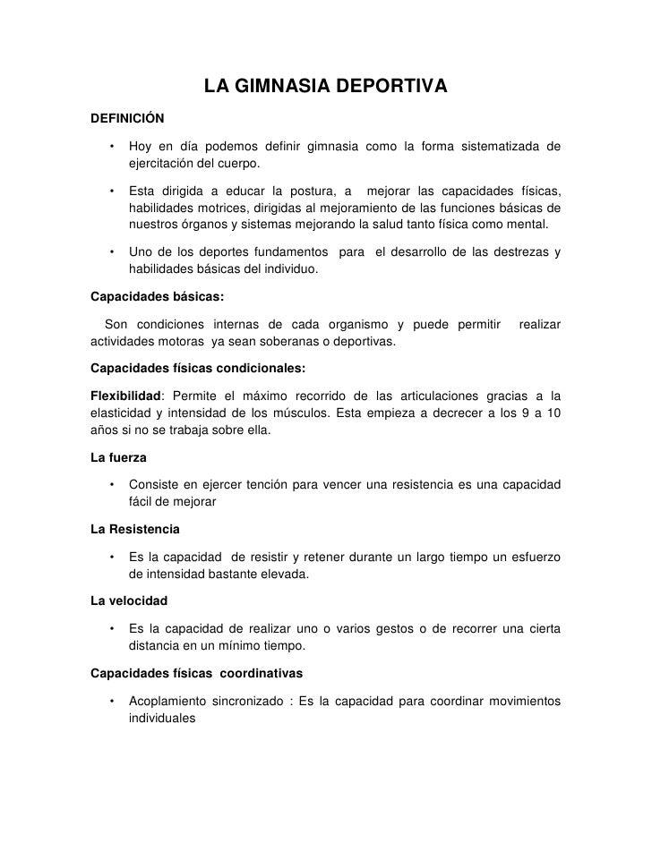 La gimnasia deportiva sanchoo for Definicion de gimnasia