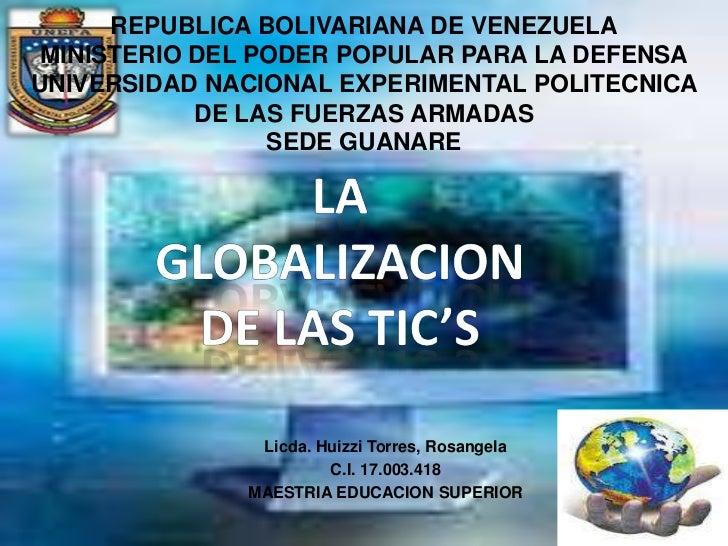 REPUBLICA BOLIVARIANA DE VENEZUELAMINISTERIO DEL PODER POPULAR PARA LA DEFENSAUNIVERSIDAD NACIONAL EXPERIMENTAL POLITECNIC...