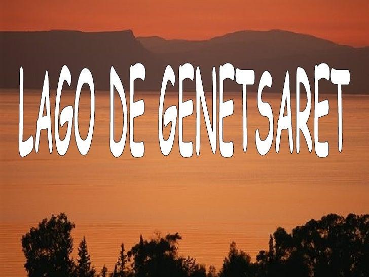 LAGO DE GENETSARET