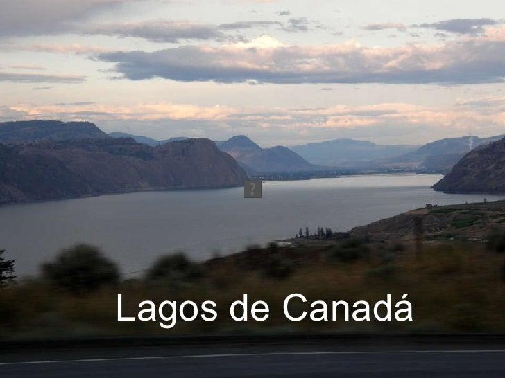 Lagos de Canadá