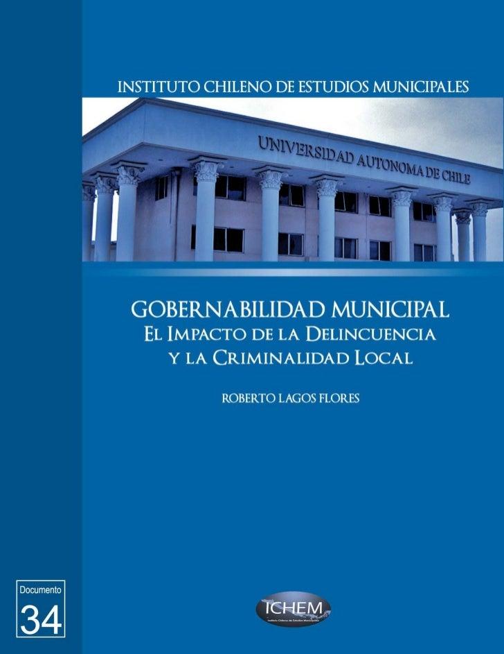 GOBERNABILIDAD MUNICIPAL:      El impacto de la Delincuencia y           la Criminalidad Local                         Doc...