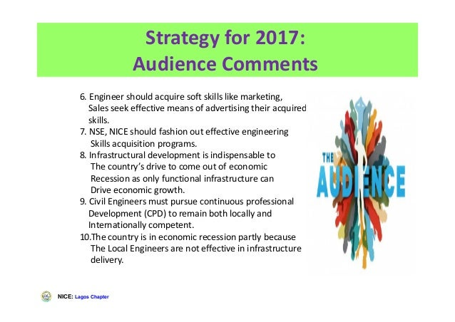 NICE: Lagos Chapter 6. Engineer should acquire soft skills like marketing, Sales seek effective means of advertising their...