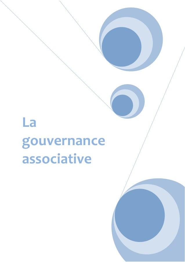 La gouvernance associative