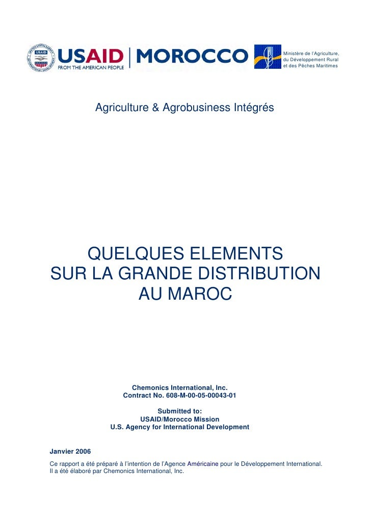 Ministère de l'Agriculture,                                                                                   du Développe...