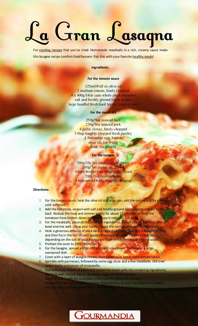 show you how to make lasagna