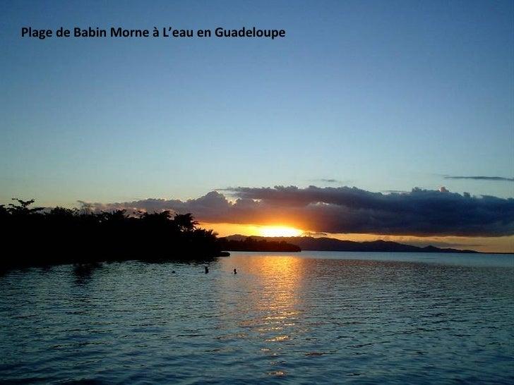Plage de Babin Morne à L'eau en Guadeloupe