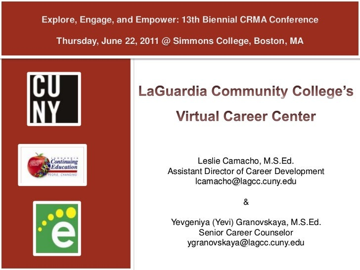 Explore, Engage, and Empower: 13th Biennial CRMA ConferenceThursday, June 22, 2011 @ Simmons College, Boston, MA<br />LaGu...