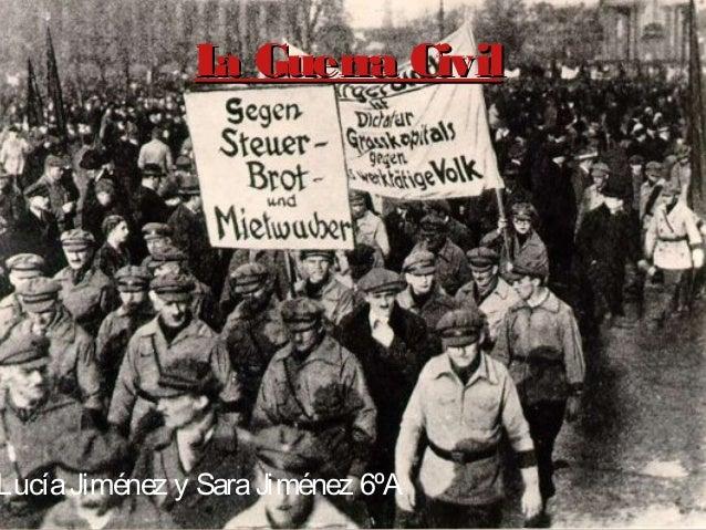 L Guerra Civil a  Lucía Jiménez y Sara Jiménez 6ºA