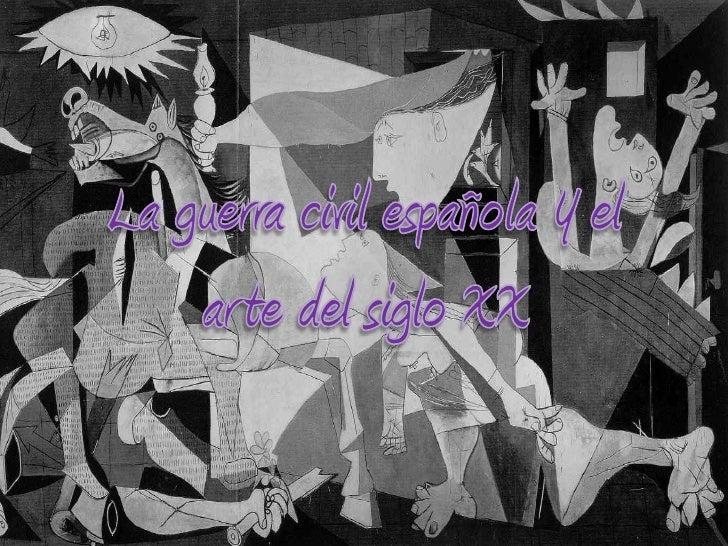 La guerra civil española y el arte del
