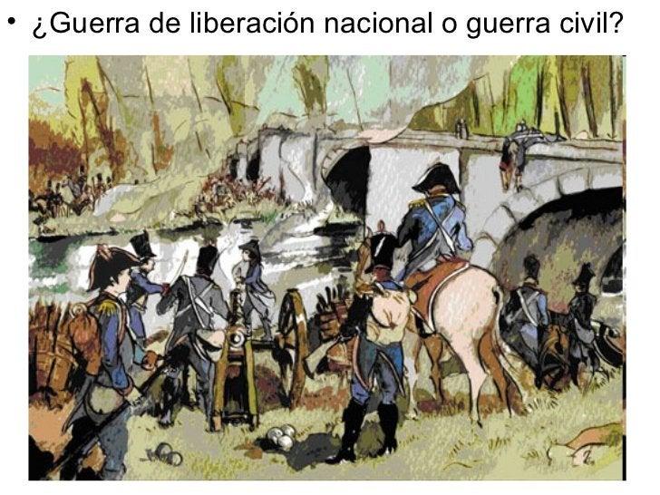 <ul><li>¿Guerra de liberación nacional o guerra civil? </li></ul>