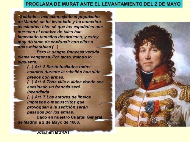 """""""Soldados, mal aconsejado el populacho de Madrid, se ha levantado y ha cometido asesinatos; bien sé que los españoles que ..."""
