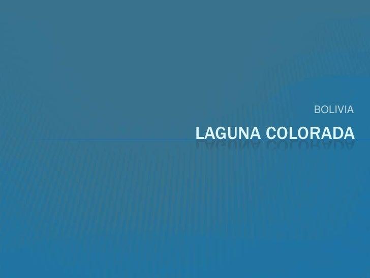 BOLIVIA<br />LAGUNA COLORADA<br />