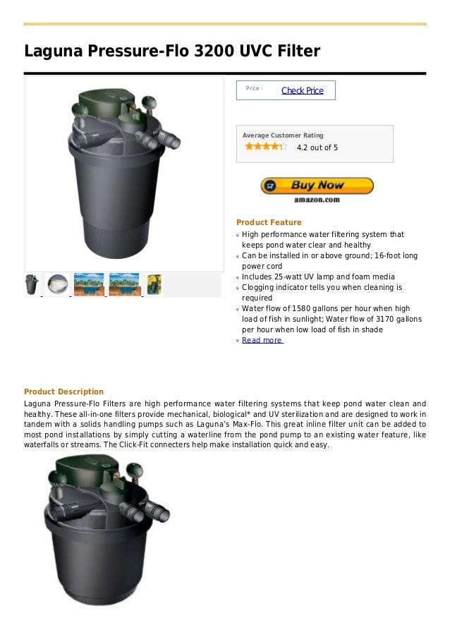 Laguna Pressure-Flo 3200 UVC Filter                                                                 Price :               ...