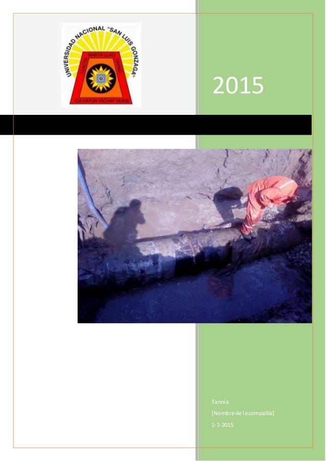 2015 Tannia [Nombre de lacompañía] 1-1-2015