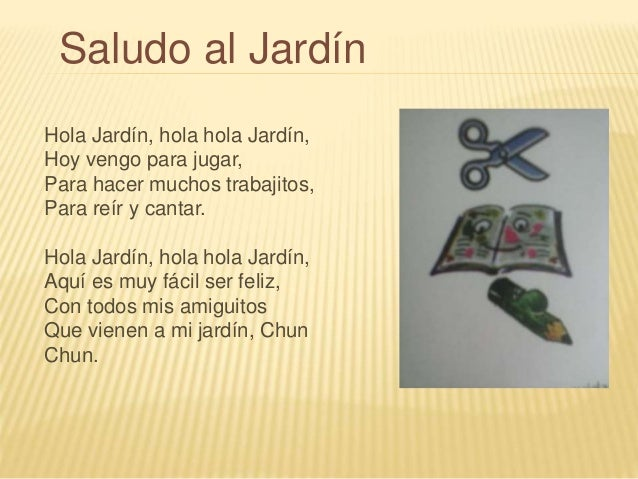 Canciones infantiles for Cancion el jardin
