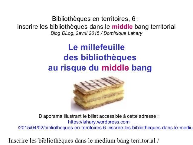 Inscrire les bibliothèques dans le medium bang territorial / Bibliothèques en territoires, 6 : inscrire les bibliothèques ...