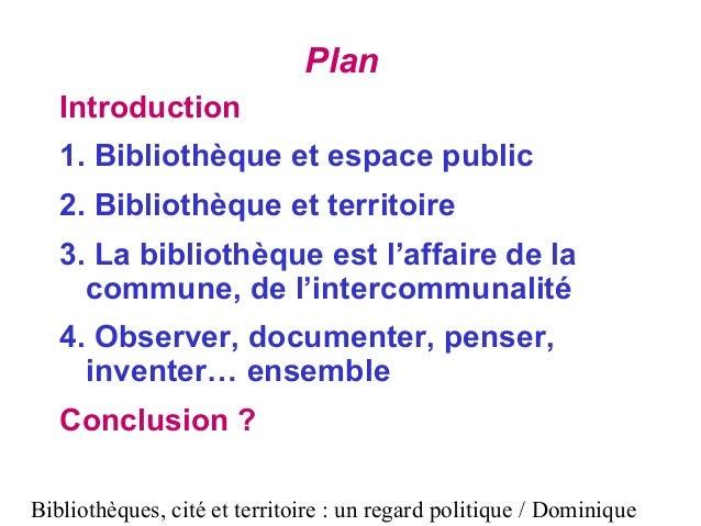 Bibliothèques, cité et territoire : Un regard politique Slide 2