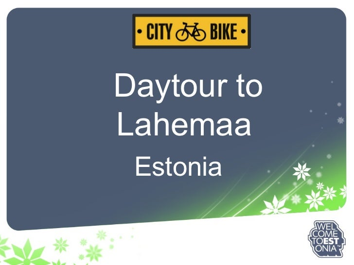 Daytour to Lahemaa Estonia
