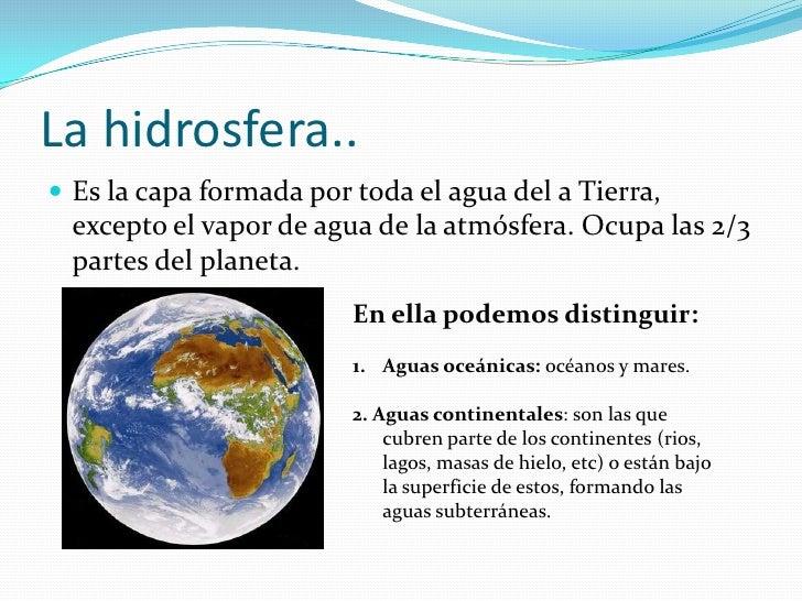 3 La Hidrosfera Componentes Terrestres
