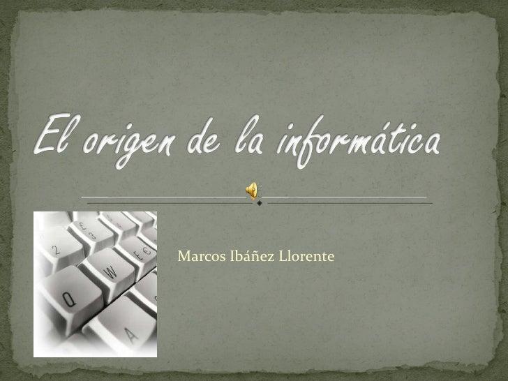 Marcos Ibáñez Llorente