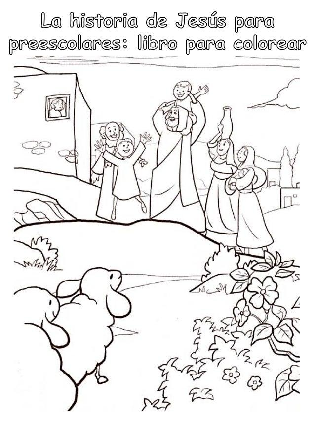 La Historia De Jesus Para Preescolares Libro Para Colorear
