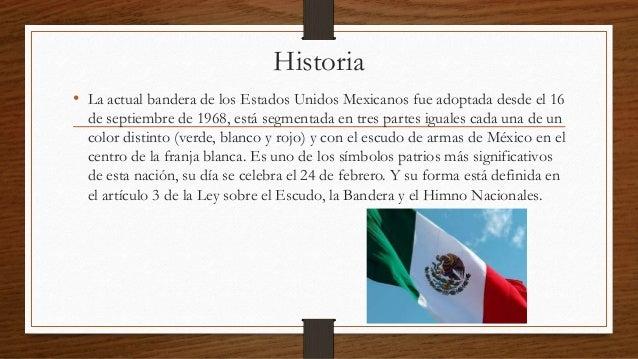 la historia de la bandera de m xico