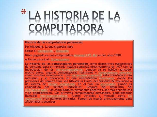 La historia de la computadora - photo#23