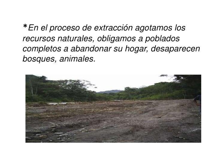 * La producción de bienes requiere de tóxicos  que perjudican el medio ambiente pero  también la salud humana.