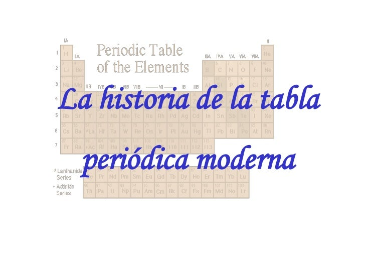 La historia de la tabla peridica moderna urtaz Image collections