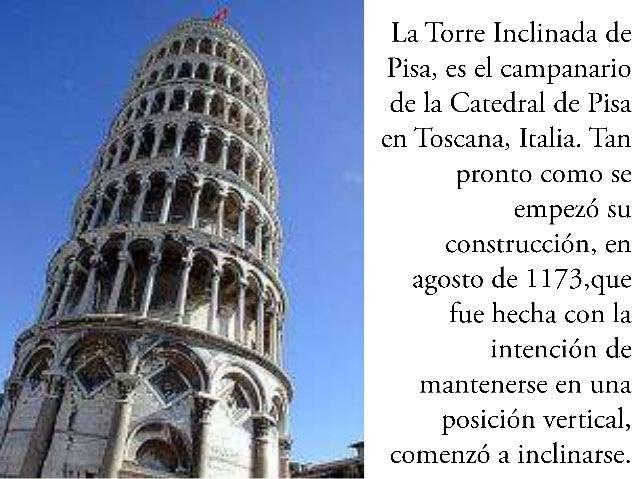 foto de La Historia de la Torre Inclinada de Pisa Luis Velasquez