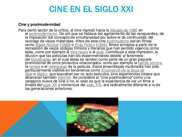 El cine e Internet La generalización de las tecnologías relacionadas con el ordenador cambió al cine para siempre. Los ant...