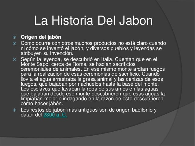 invencion jabon