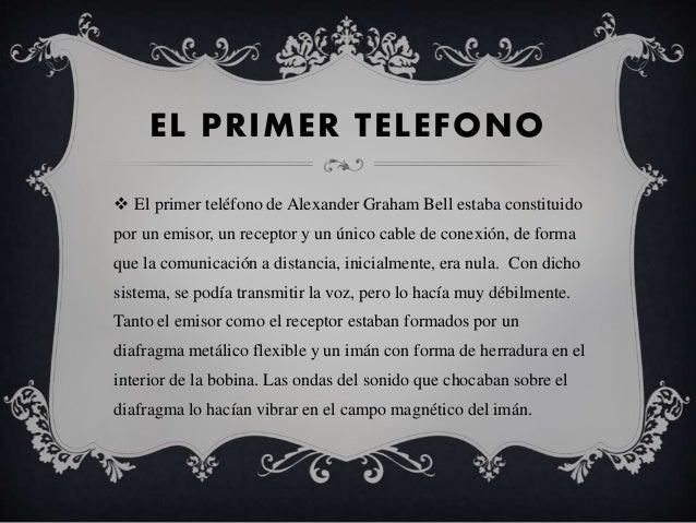 La historia de tel fono for De donde es el telefono