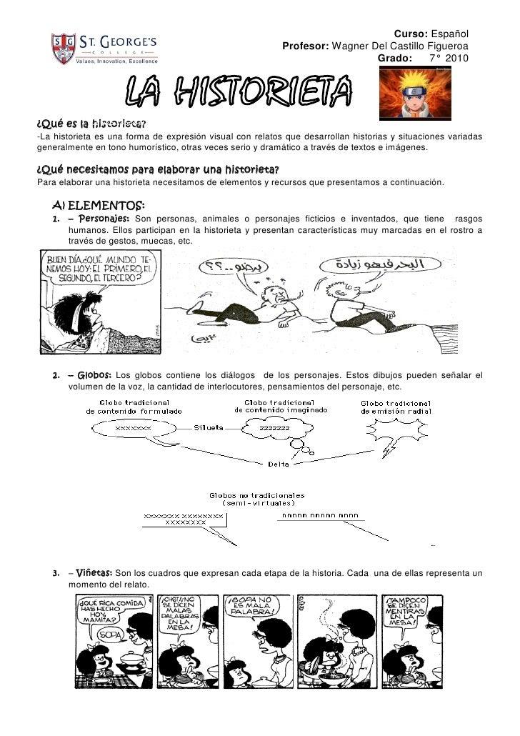 Curso: Español                                                            Profesor: Wagner Del Castillo Figueroa          ...