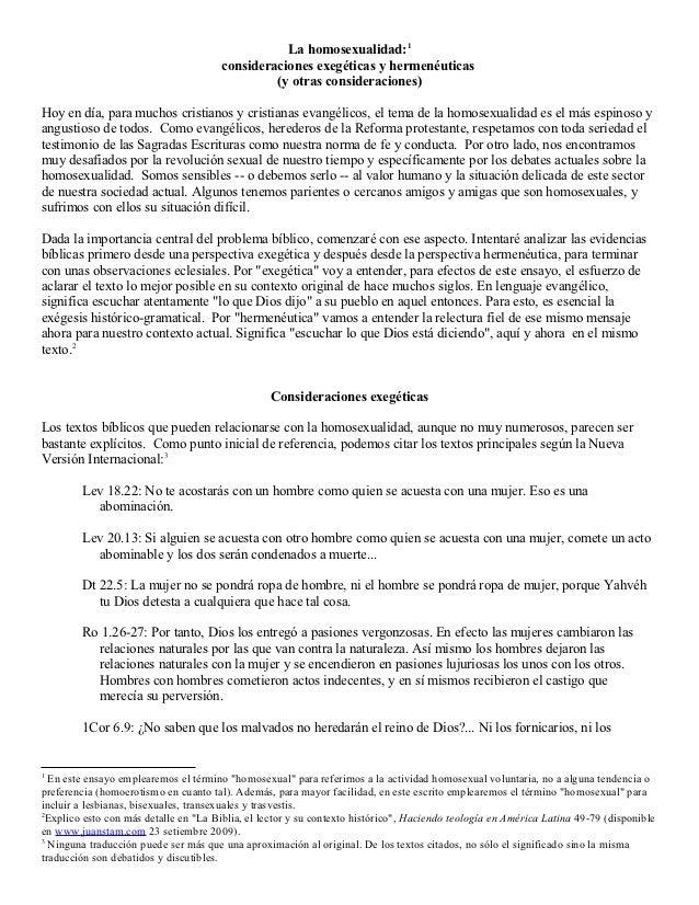 La homosexualidad:1                                       consideraciones exegéticas y hermenéuticas                      ...