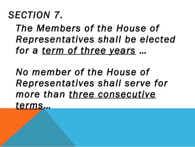 How many terms can a representative serve?