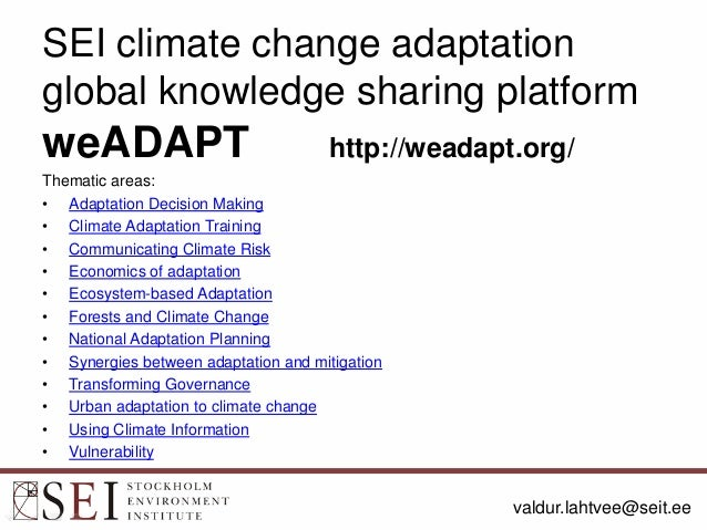 Essay about climate change adaptation