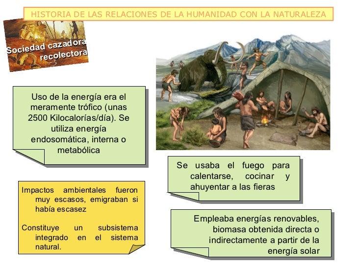 HISTORIA DE LAS RELACIONES DE LA HUMANIDAD CON LA NATURALEZA             doraSociedad caza                 ra       recole...