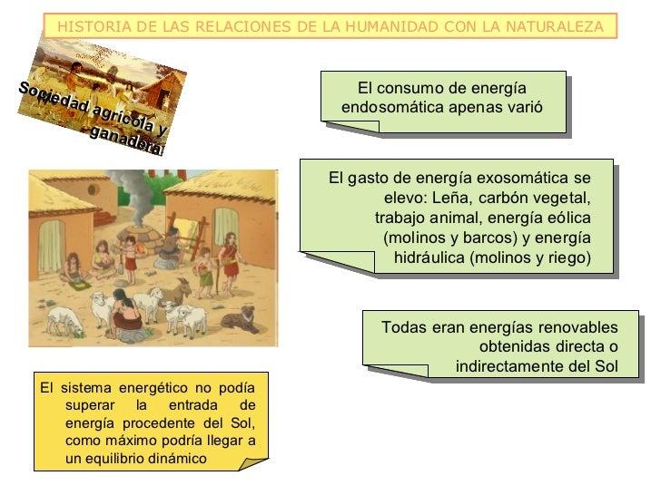 HISTORIA DE LAS RELACIONES DE LA HUMANIDAD CON LA NATURALEZASoc                                     El consumo de energía ...