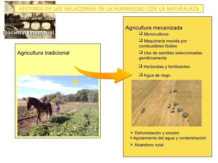 HISTORIA DE LAS RELACIONES DE LA HUMANIDAD CON LA NATURALEZA                                        Agricultura mecanizada...