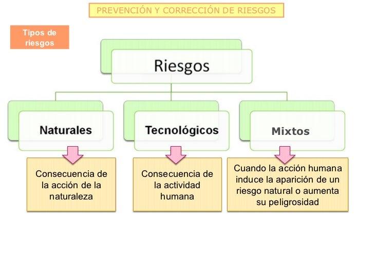 PREVENCIÓN Y CORRECCIÓN DE RIESGOSTipos deriesgos                                                 Mixtos                  ...