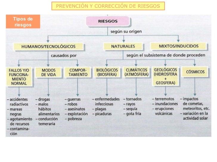 PREVENCIÓN Y CORRECCIÓN DE RIESGOSTipos deriesgos