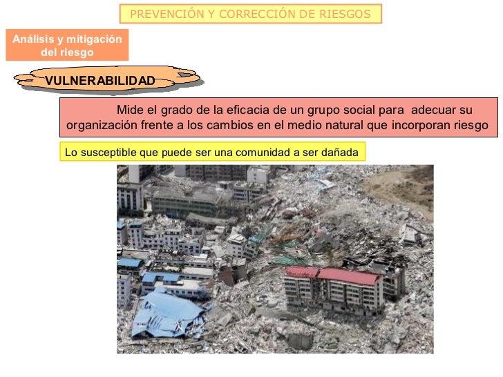 PREVENCIÓN Y CORRECCIÓN DE RIESGOSAnálisis y mitigación     del riesgo      VULNERABILIDAD       VULNERABILIDAD           ...
