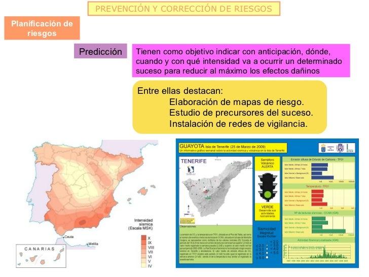 PREVENCIÓN Y CORRECCIÓN DE RIESGOSPlanificación de    riesgos                   Predicción   Tienen como objetivo indicar ...