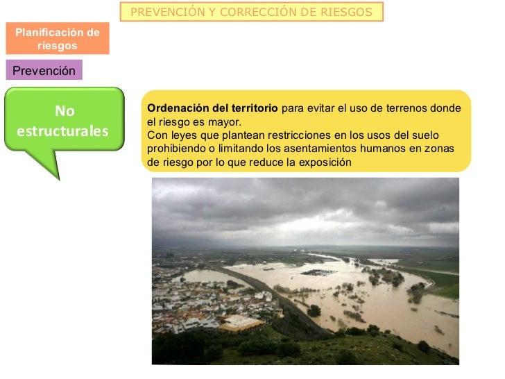 PREVENCIÓN Y CORRECCIÓN DE RIESGOSPlanificación de    riesgosPrevención     No              Ordenación del territorio para...