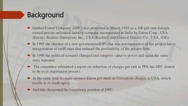 Enron case study in ol1150 unit